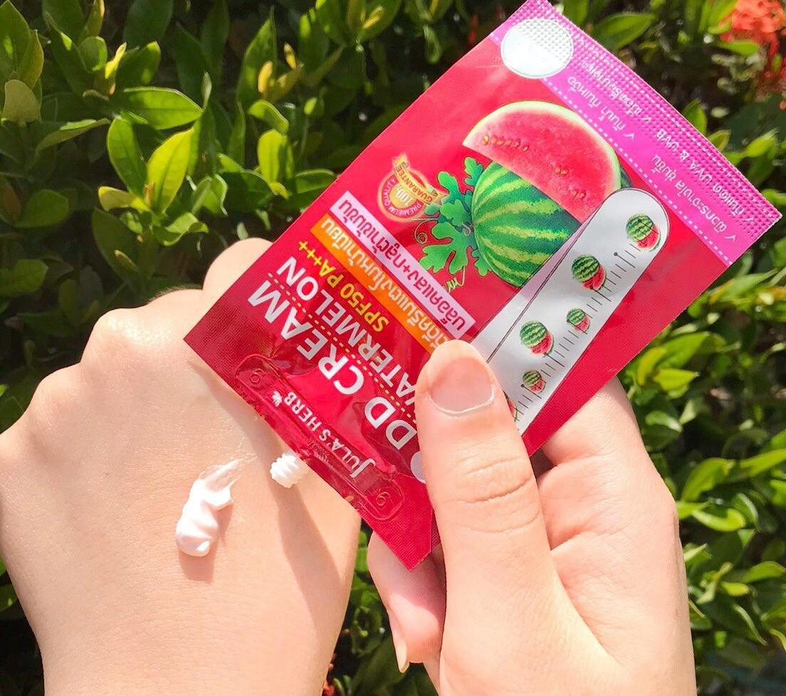 Review Kem chống nắng dưa hấu Thái Lan Jula's Herb DD Cream Watermelon